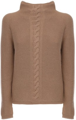 Cashmere Knit Mock Neck Sweater