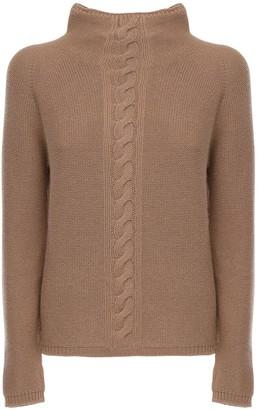 Max Mara 'S Cashmere Knit Mock Neck Sweater