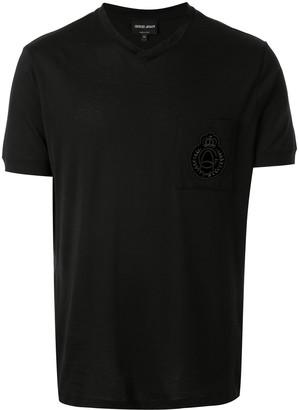 Giorgio Armani logo patch T-shirt