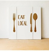 Cathy's Concepts Eat Local Wood Wall Art