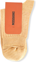 Missoni Metallic cotton-blend textured socks