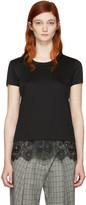 Carven Black Lace Detail T-Shirt