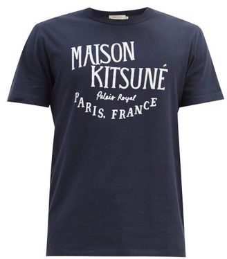 MAISON KITSUNÉ Palais Royal-print Cotton-jersey T-shirt - Navy