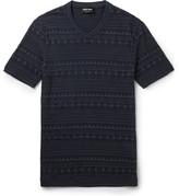 Giorgio Armani - Slim-fit V-neck Jacquard T-shirt