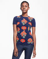 Brooks Brothers Cashmere Floral Intarsia Sweater