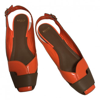 Bally Orange Patent leather Sandals
