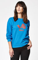 Obey Delancey Flower Crew Neck Sweatshirt