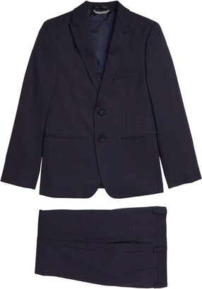 Andrew Marc Kids' Microplaid Suit