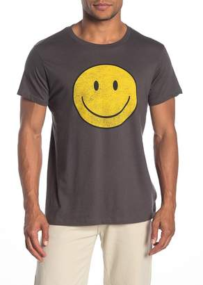 Body Rags Short Sleeve Happy Face Graphic T-Shirt