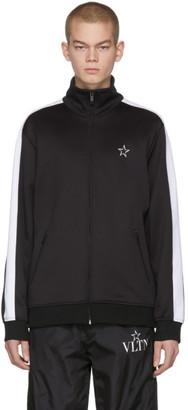 Valentino Black VLTN Star Zip-Up Sweater