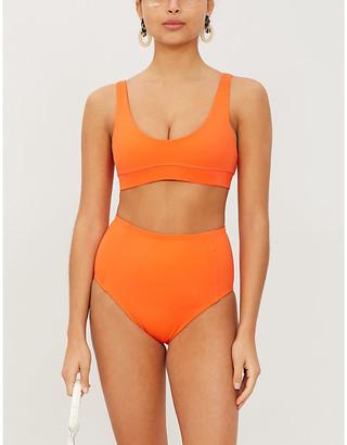 Stay Wild Swim Scoop-neck bikini top