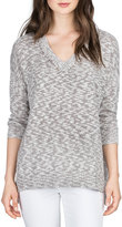 Lilla P V-Neck Slub Chic Sweater, Sparrow