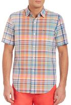 Lacoste Short Sleeve Plaid Shirt