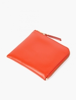Comme des Garcons Orange Small Leather Coin Wallet