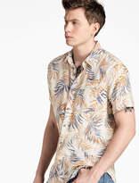 Lucky Brand Linen Floral Shirt