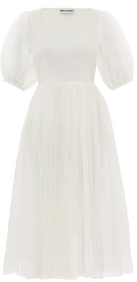 Molly Goddard Gwyneth Puff-sleeved Tulle Midi Dress - Ivory