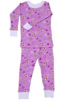 New Jammies Purple Flowers Organic Pajama Set - Infant
