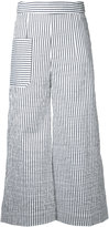 Eudon Choi striped cropped trousers