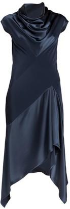 Unttld Cybil Satin & Crepe Bias Dress