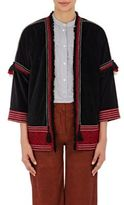 Masscob Women's Embroidered Velvet Jacket