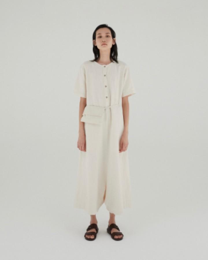 Mónica Cordera Monica Cordera - Ivory Waist Bag Jumpsuit - U | ivory - Ivory