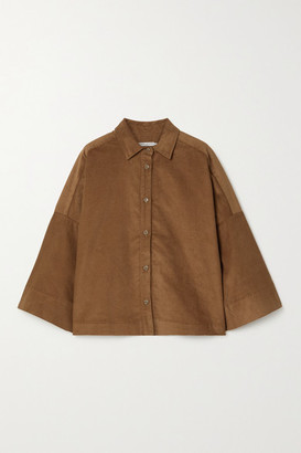 Three Graces London Sacha Cotton-corduroy Shirt - Brown