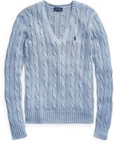 Polo Ralph Lauren Ralph Lauren Cable Cotton V-Neck Sweater