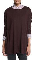 Brunello Cucinelli Dolman-Sleeve Oversized Sweater, Burgundy