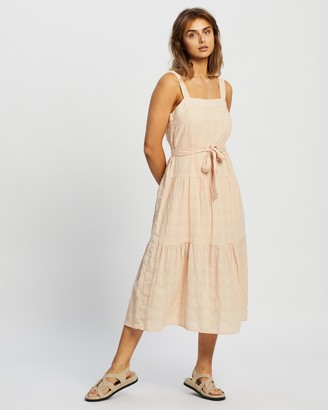 Staple the Label - Women's Pink Midi Dresses - Lila Sundress - Size 8 at The Iconic