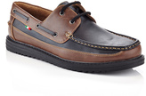 Black & Coffee Two-Tone Boat Shoe