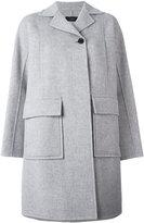 Joseph single button boxy coat - women - Viscose/Cashmere/Wool - 38