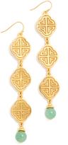 Ben-Amun Three Tier Earrings
