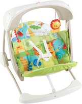 Fisher-Price Deluxe Take-Along Jungle Swing & Seat - Rainforest Friends