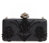 Alexander McQueen Embellished Nappa Leather Clutch - Black