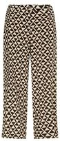 Max Mara Starlet Cropped Silk Trousers
