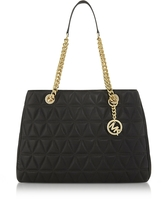 Michael Kors Scarlett Large Black Quilted Leather Tote Bag