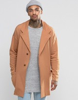 Asos Jersey Duster Coat In Camel