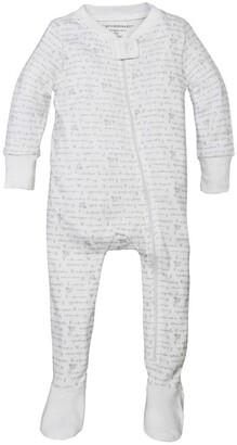 Burt's Bees Alphabet Bee Organic Baby Zip Front Snug Fit Footed Pajamas