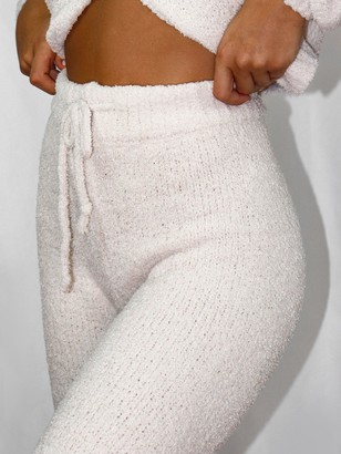 Missguided Soft Touch Knitted Joggers - Cream
