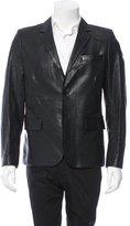 Saint Laurent Two-Button Leather Blazer