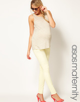 Asos Skinny Jean In Washed Yellow