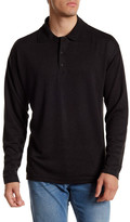 Burma Bibas Cutaway Long Sleeve Polo