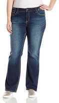 UNIONBAY Women's Plus Size Amy 5pkt True Bootcut Jean with Flap Back Pockets