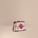 Burberry Dot Print Horseferry Check Coin Wallet
