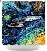 Tea Nest Designs Bathroom Mildew and Wrinkle Resistant Shower Curtains by Aja Ann - Van Gogh Star Trek Painting 66X72