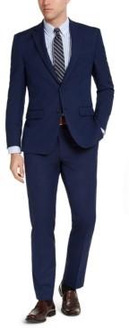 Van Heusen Men's Slim-Fit Stretch Bright Navy Blue Solid Suit