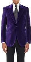 Cifonelli CIFONELLI MEN'S VELVET SINGLE-BUTTON MARBEUF SPORTCOAT-PURPLE SIZE 46 R