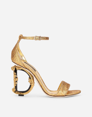 Dolce & Gabbana Brocade Sandals With Baroque Heel
