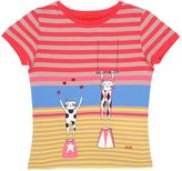 Sonia Rykiel Cats Printed Cotton Blend Jersey T-Shirt