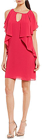 Laundry by Shelli Segal Draped Shift Dress